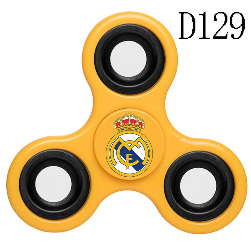 Real Madrid Team Logo Yellow 3 Way Fidget Spinner