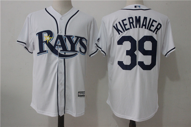 Rays 39 Kevin Kiermaier White Cool Base Jersey