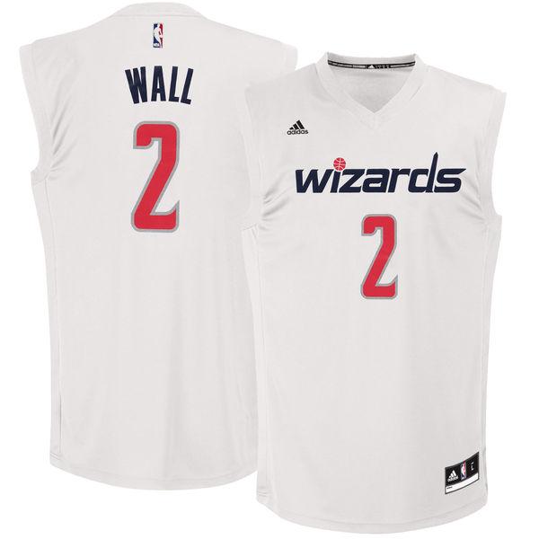 Wizards 2 John Wall White Chase Fashion Replica Jersey