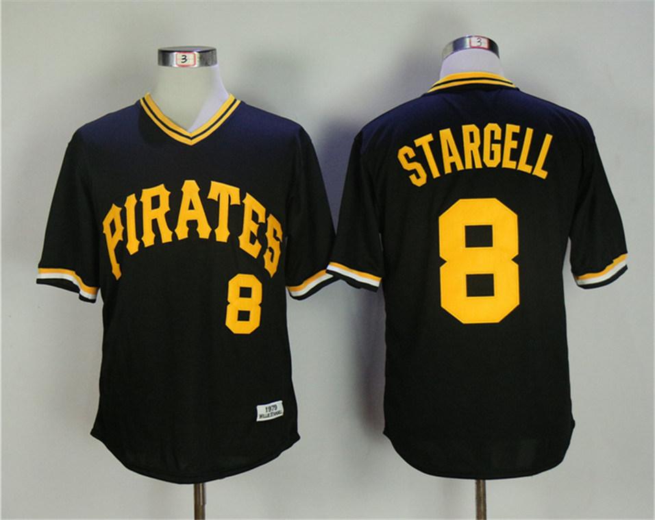 Pirates 8 Willie Stargell Black 1979 Throwback Jersey