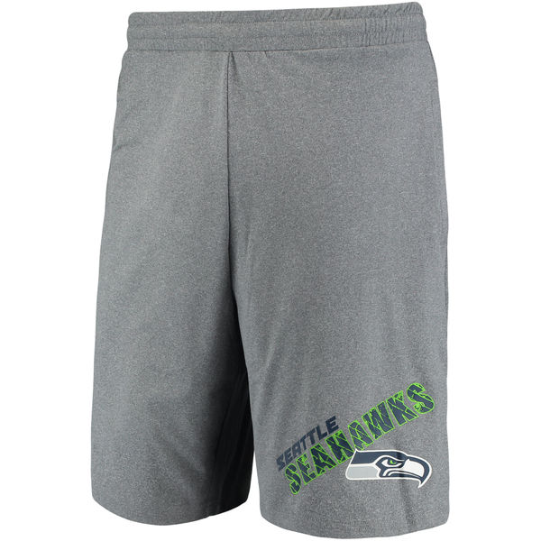Seattle Seahawks Concepts Sport Tactic Lounge Shorts Heathered Gray
