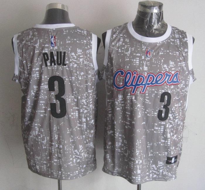 Clippers 3 Chris Paul Gray City Luminous Jersey