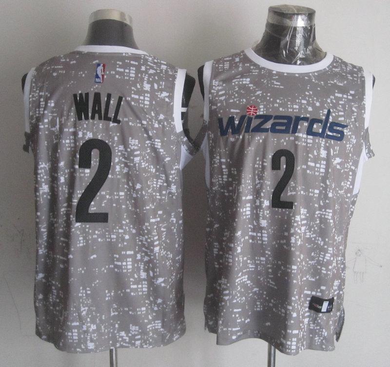 Wizards 2 John Wall Gray City Luminous Jersey
