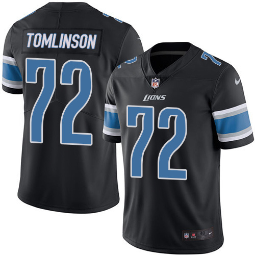 Nike Lions 72 Tomlinson Laken Black Youth Color Rush Limited Jersey