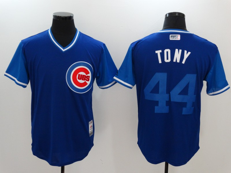 Cubs 44 Anthony Rizzo Tony Majestic Royal 2017 Players Weekend Jersey