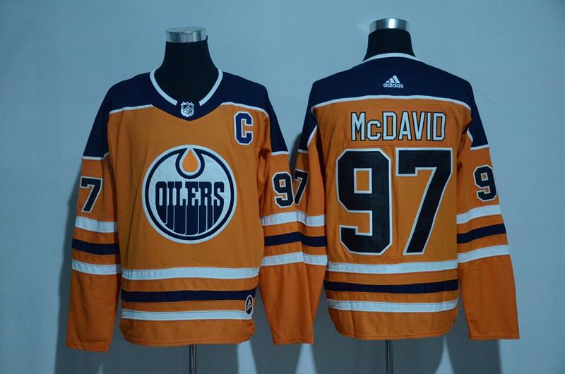 Oilers 97 Connor McDavid Orange Adidas Jersey