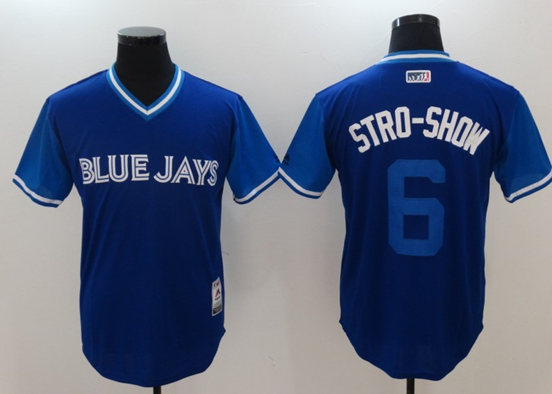 Blue Jays 6 Marcus Stroman Stro Show Majestic Royal 2017 Players Weekend Jersey