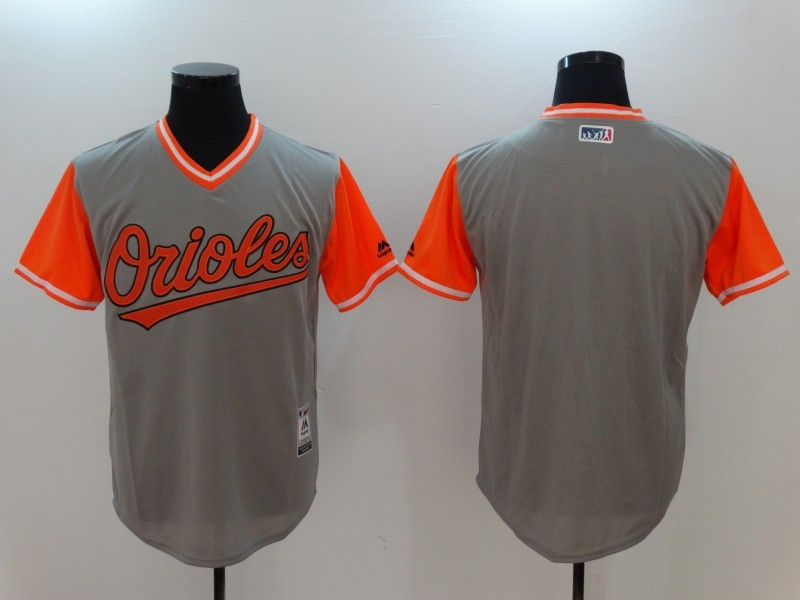 Orioles Majestic Gray 2017 Players Weekend Team Jersey