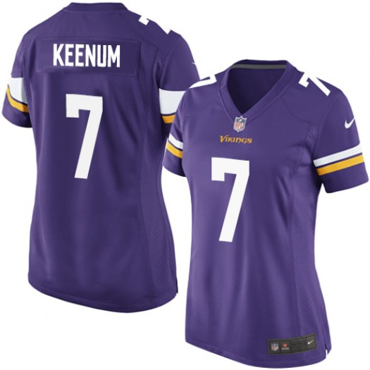 Nike Vikings 7 Case Keenum Purple Women Game Jersey