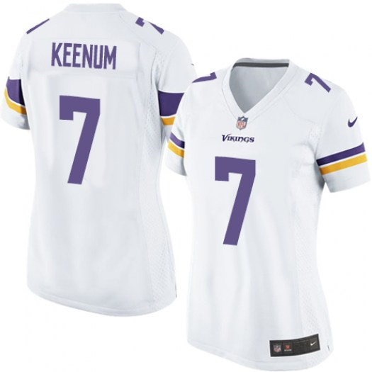 Nike Vikings 7 Case Keenum White Women Game Jersey