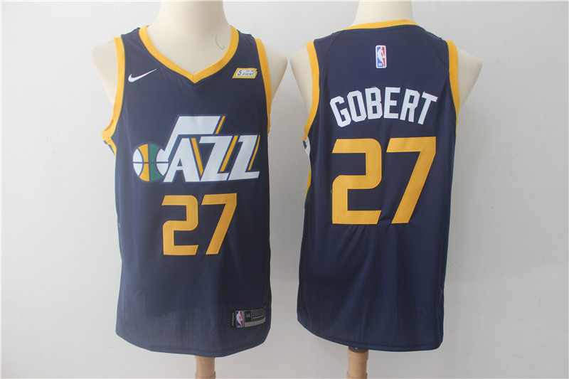Jazz 27 Rudy Gobert Navy Nike Swingman Jersey