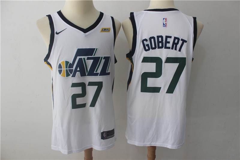 Jazz 27 Rudy Gobert White Nike Swingman Jersey