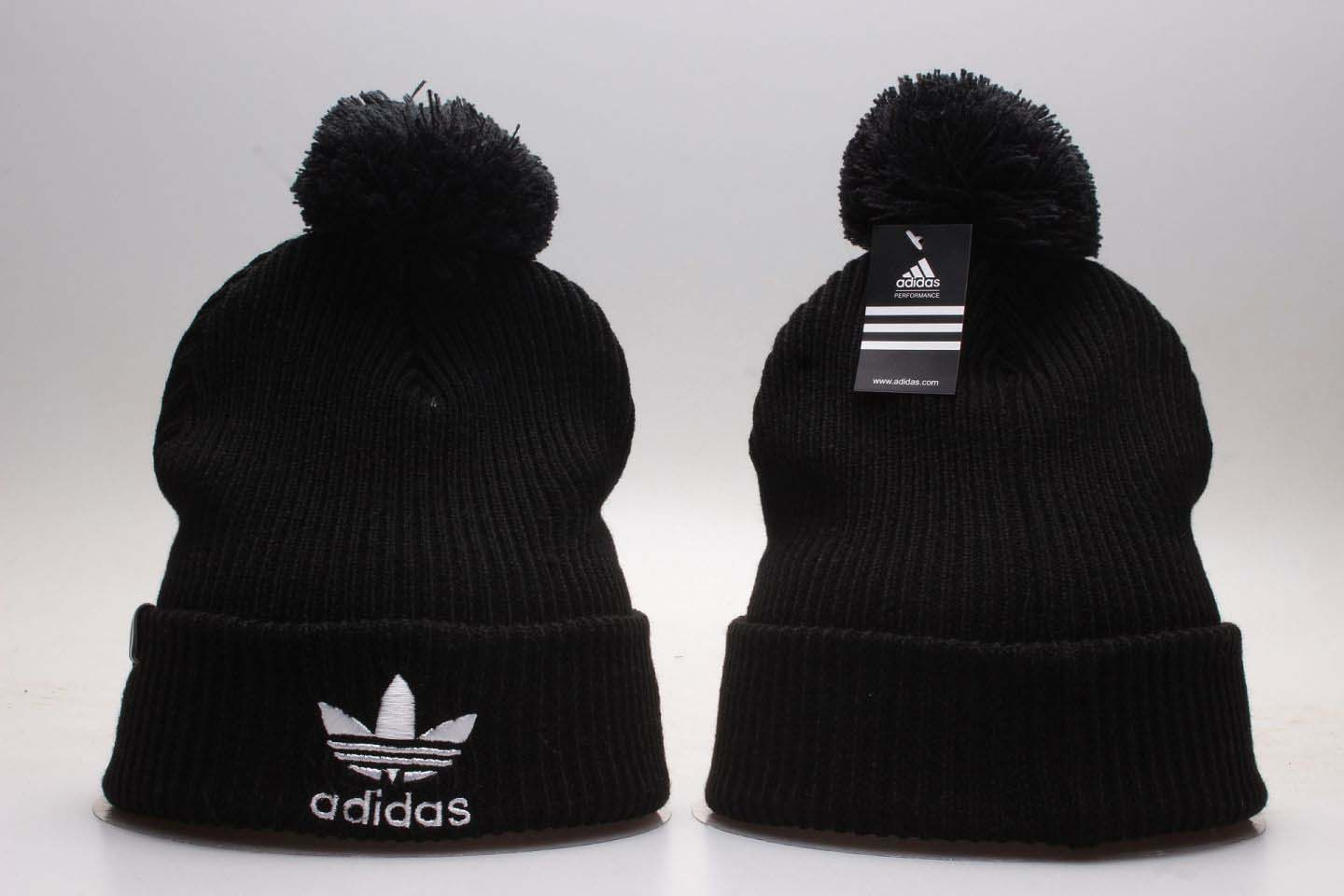 Adidas Originals Black Fashion Sport Pom Knit Hat YP