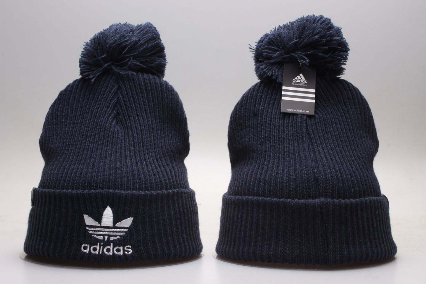 Adidas Originals Navy Fashion Sport Pom Knit Hat YP