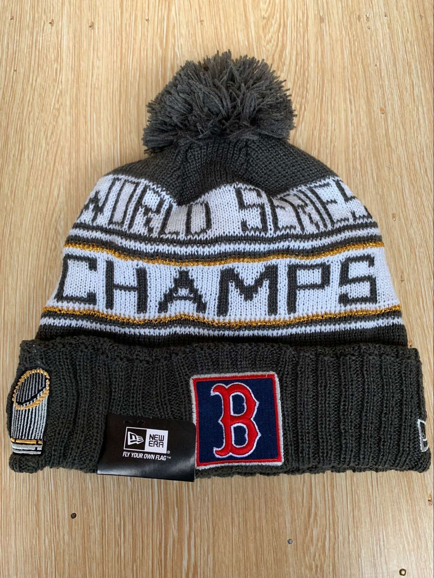 Red Sox 2018 World Series Champions Pom Knit Hat YD