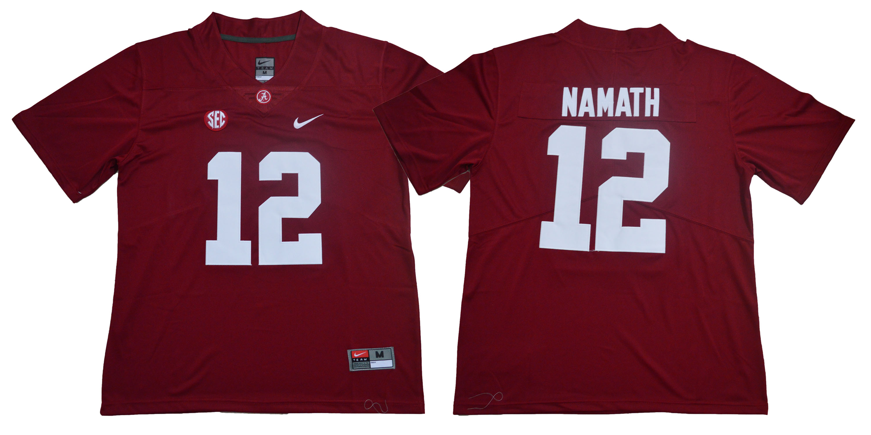 Alabama Crimson Tide 12 Joe Namath Red Nike College Football Jersey
