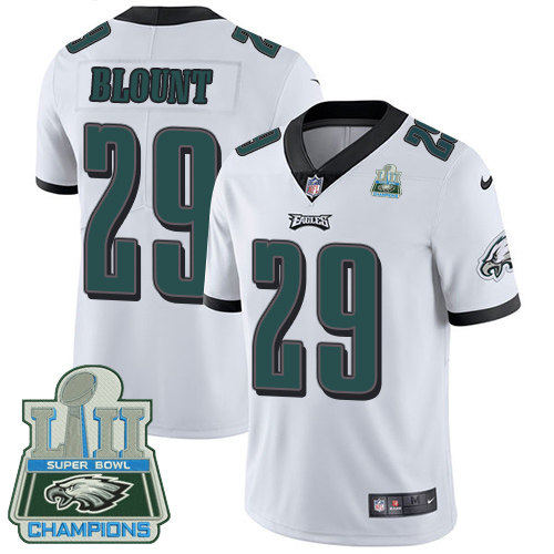 Nike Eagles 29 LeGarrette Blount White 2018 Super Bowl Champions Youth Vapor Untouchable Player Limited Jersey