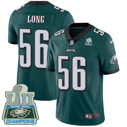 Nike Eagles 56 Chris Long Green 2018 Super Bowl Champions Youth Vapor Untouchable Player Limited Jersey