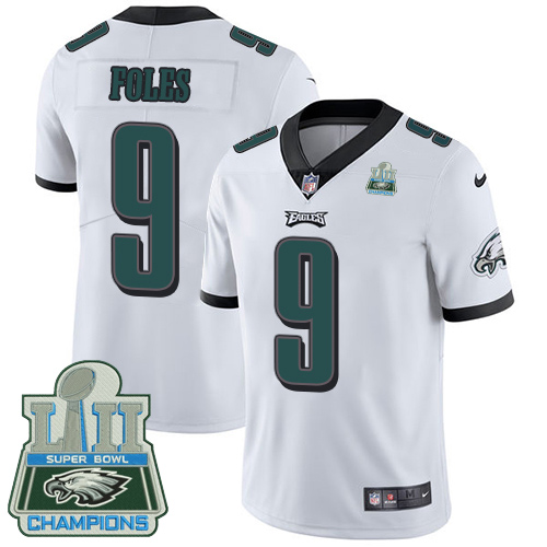 Nike Eagles 9 Nick Foles White 2018 Super Bowl Champions Youth Vapor Untouchable Player Limited Jersey