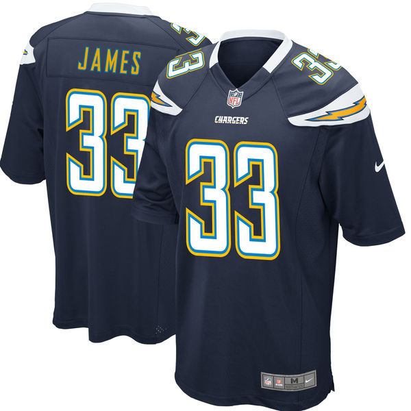 Nike Chargers 33 Derwin James Navy 2018 NFL Draft Pick Elite Jersey