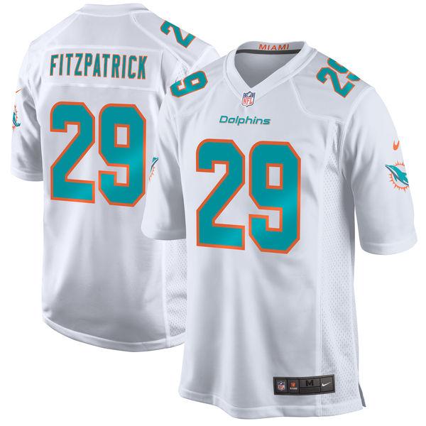 Nike Dolphins 29 Minkah Fitzpatrick White 2018 NFL Draft Pick Elite Jersey