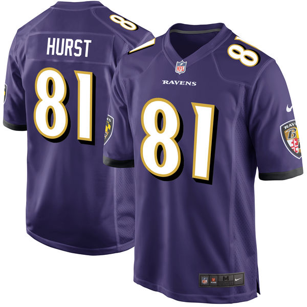 Nike Ravens 81 Hayden Hurst Orange 2018 NFL Draft Pick Elite Jersey
