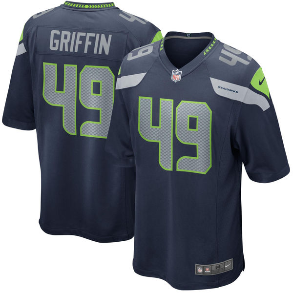 Nike Seahawks 49 Shaquem Griffin Navy 2018 NFL Draft Pick Elite Jersey