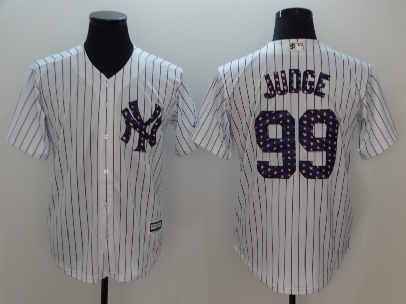 Yankees 99 Aaron Judge White 2018 Stars & Stripes Cool Base Jersey