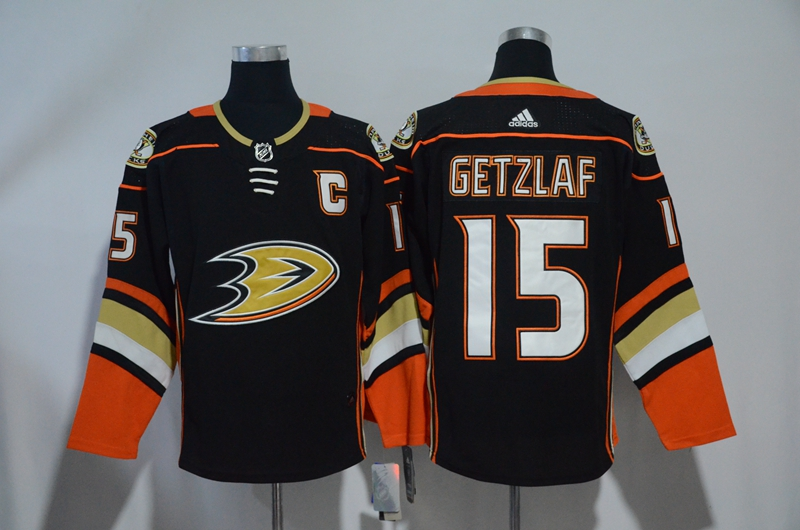 Ducks 15 Ryan Getzlaf Black Adidas jersey