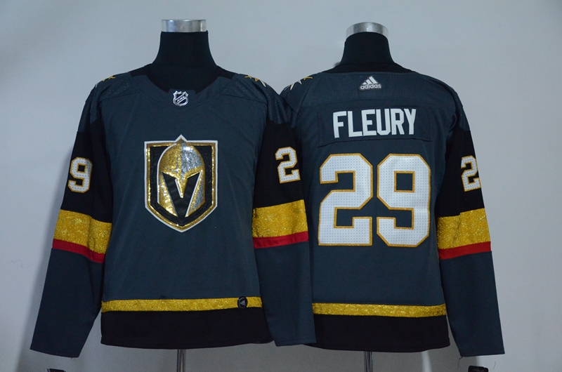 Vegas Golden Knights 29 Marc-Andre Fleury Gray Youth Adidas Jersey