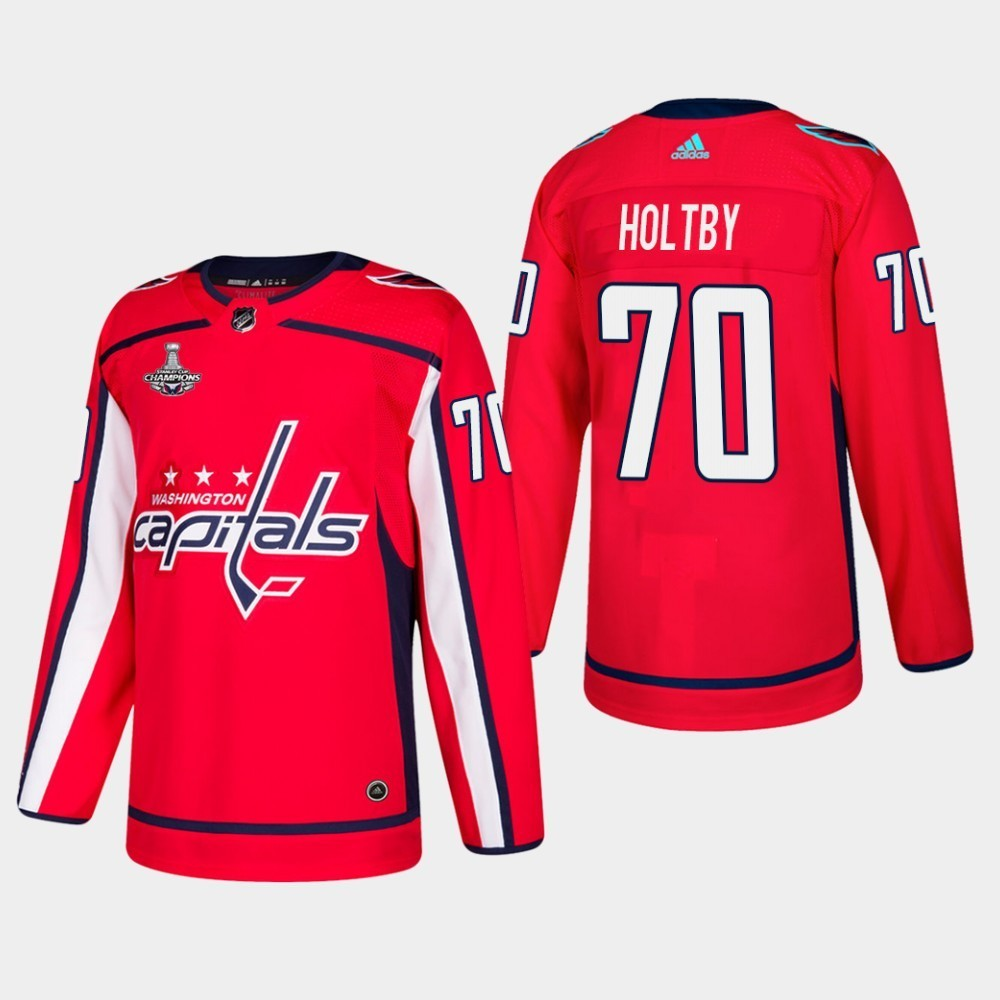 Capitals 70 Braden Holtby Red 2018 Stanley Cup Champions Adidas Jersey