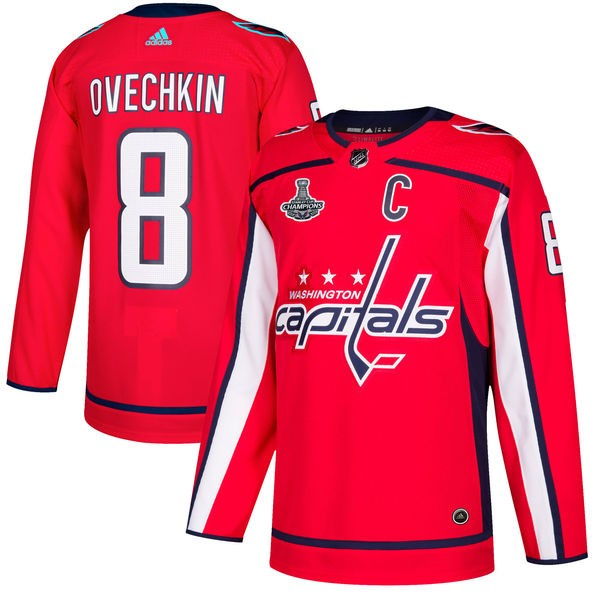 Capitals 8 Alexander Ovechkin Red 2018 Stanley Cup Champions Adidas Jersey