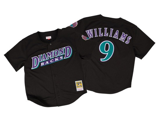 Diamondbacks 9 Matt Williams Black Mitchell & Ness Jersey