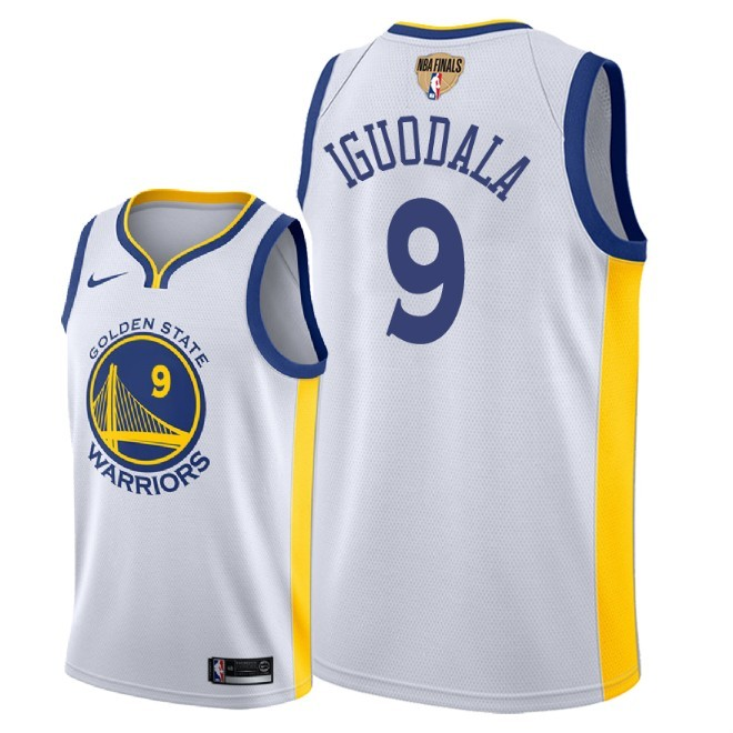 Warriors 9 Andre Iguodala White 2018 NBA Finals Nike Swingman Jersey
