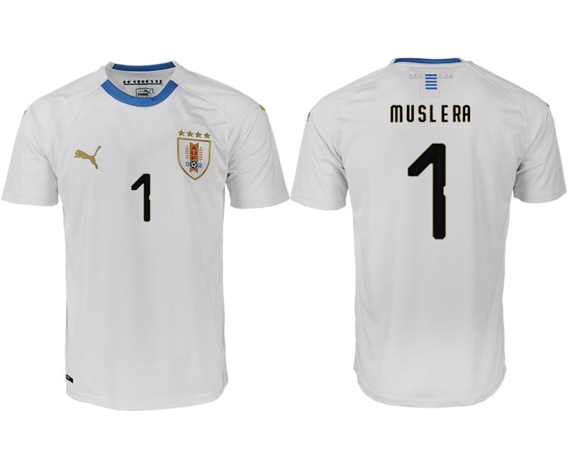 Uruguay 1 MUSLERA Away 2018 FIFA World Cup Thailand Soccer Jersey