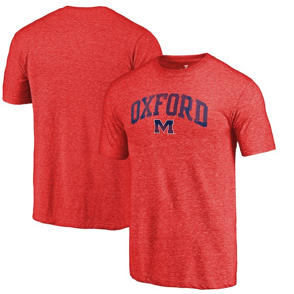 Ole Miss Rebels Fanatics Branded Red Arched City Tri-Blend T-Shirt