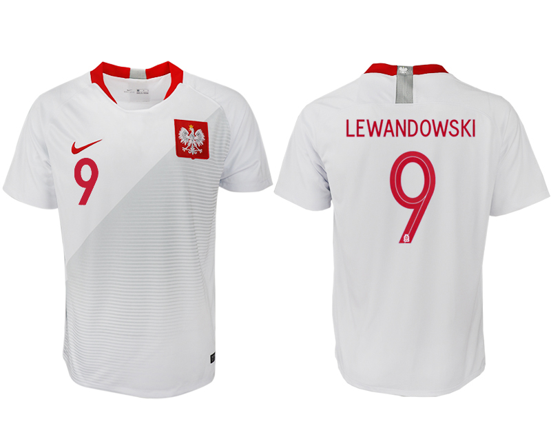 Poland Home 2018 FIFA World Cup Thailand Soccer Jersey