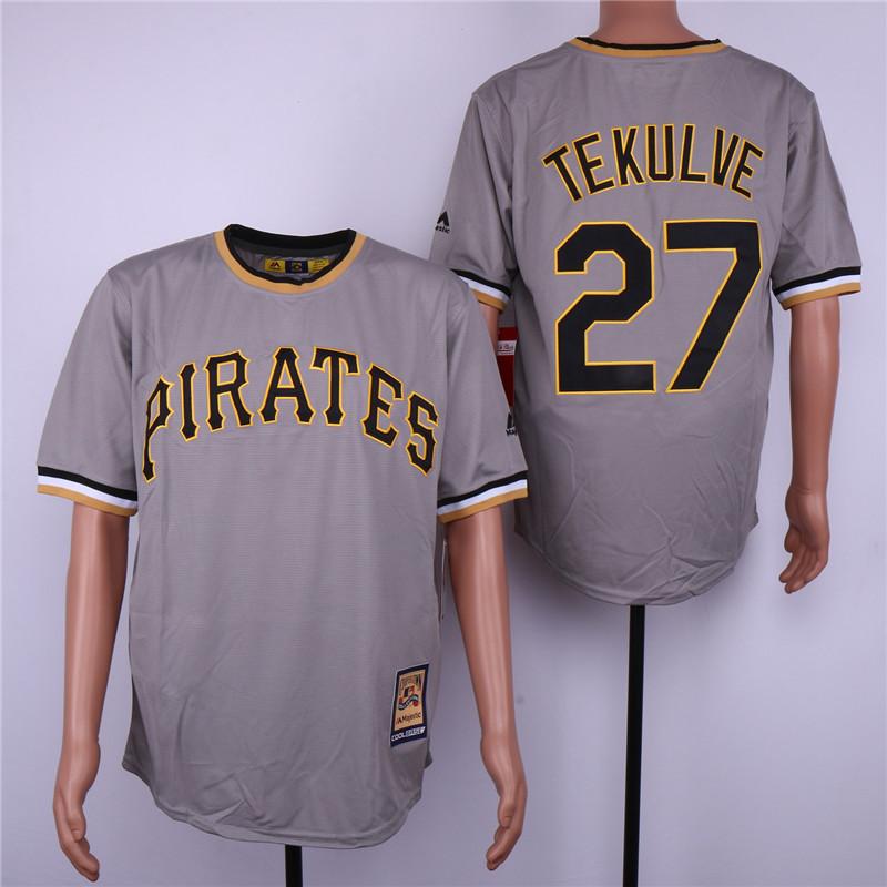 Pirates 23 Kent Tekulve Gray Cooperstown Collection Cool Base Jersey