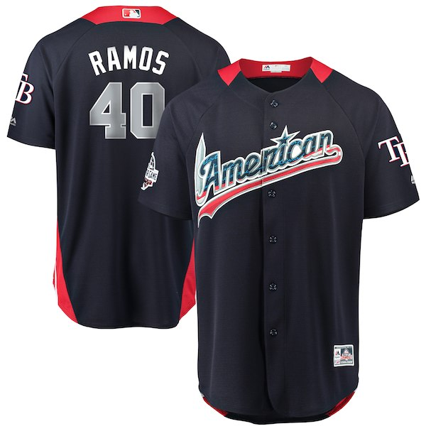 American League 40 Wilson Ramos Navy 2018 MLB All-Star Game Home Run Derby Jersey