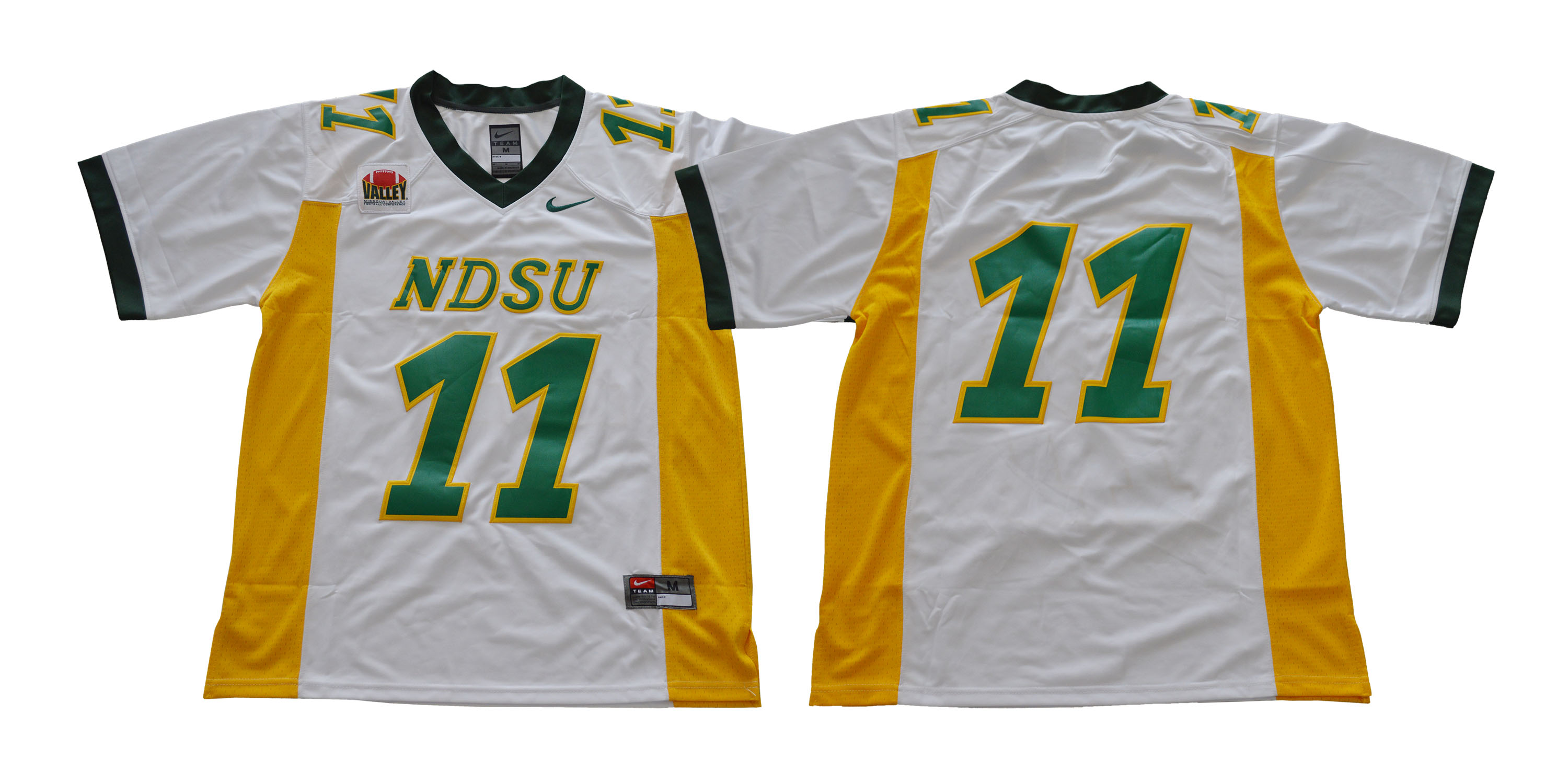 North Dakota State Bison 11 Carson Wentz White College Football Jersey