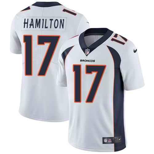 Nike Broncos 17 DaeSean Hamilton White Vapor Untouchable Limited Jersey