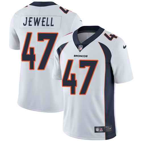Nike Broncos 47 Josey Jewell White Youth Vapor Untouchable Limited Jersey