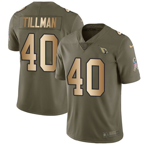 Nike Cardinals 40 Pat Tillman Olive Gold Salute To Service Limited Jersey