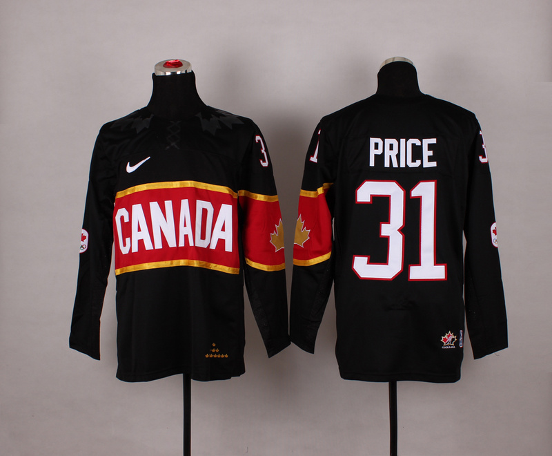 Canada 31 Price Black 2014 Olympics Jerseys