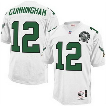 Eagles 12 Cunningham White Throwback Jerseys