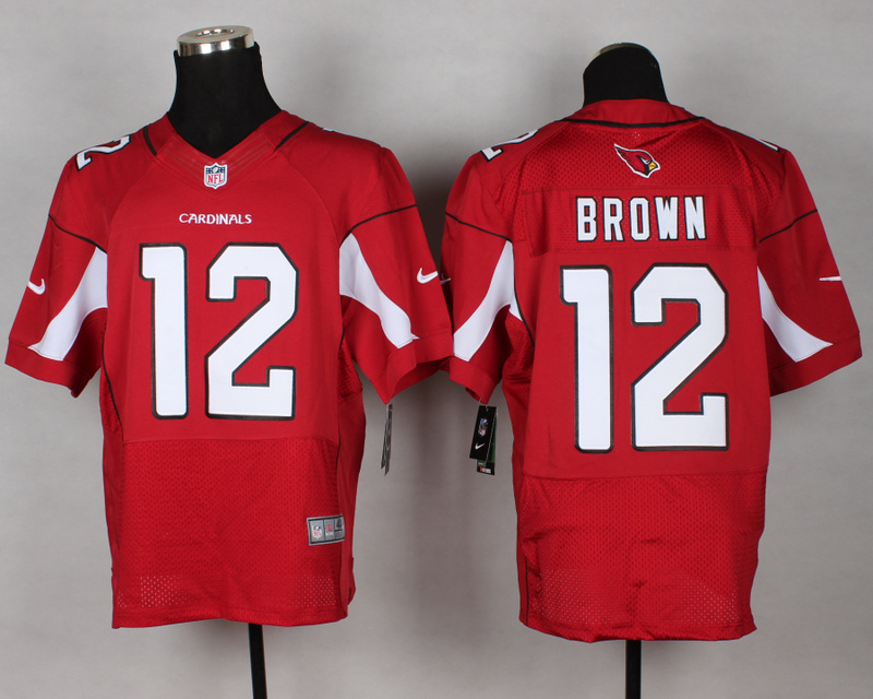 Nike Cardinals 12 Brown Red Elite Jersey
