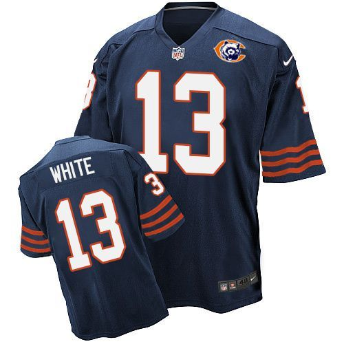 Nike Bears 13 Kevin White Blue Throwback Elite Jersey