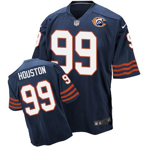 Nike Bears 99 Lamarr Houston Blue Throwback Elite Jersey