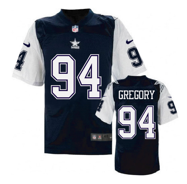 Nike Cowboys 94 Randy Gregory Blue Throwback Elite Jersey