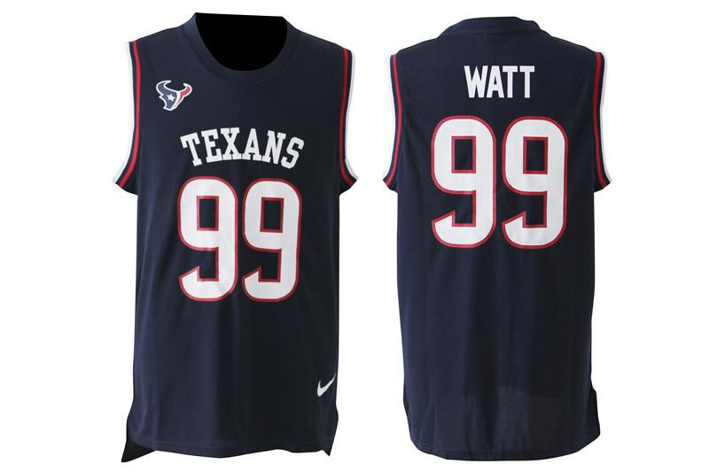 Nike Texans 99 J.J. Watt Navy Blue Player Name & Number Tank Top